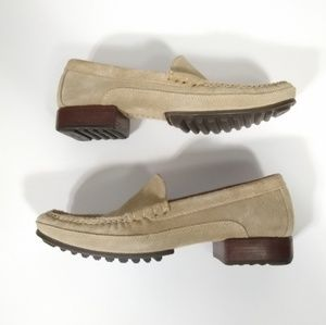 COLE HAAN country tan suede slip-on loafers